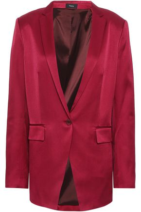 THEORY Mulholland silk and cotton-blend satin blazer