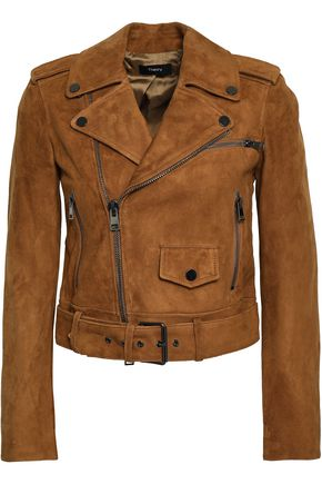 THEORY Suede biker jacket