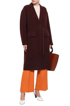 JOSEPH Belted wool and cashmere-blend felt coat