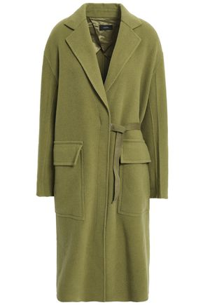 JOSEPH Belted wool and cashmere-blend felt coat