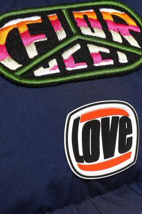 FIORUCCI Appliquéd quilted cotton down vest