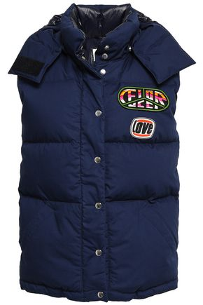 FIORUCCI Appliquéd quilted cotton down vest