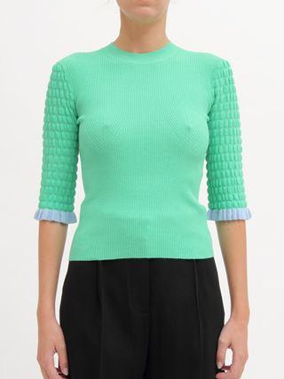프릴 스웨터