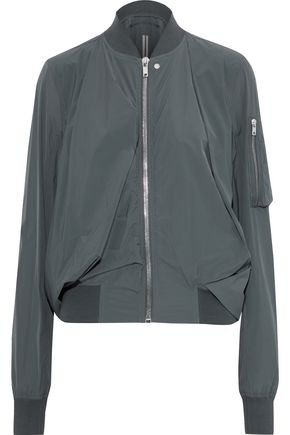 RICK OWENS Swoop gathered shell bomber jacket