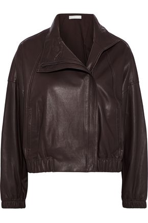 VINCE. Leather bomber jacket