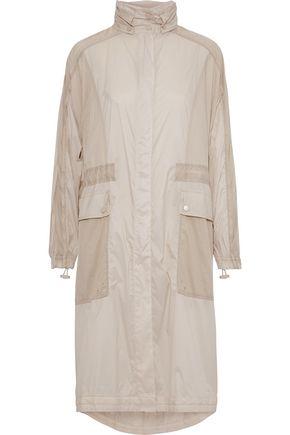 VINCE. Paneled shell hooded jacket