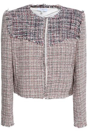 IRO Frayed cotton-blend tweed jacket