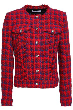 IRO Quilombe metallic houndstooth tweed jacket