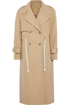 VINCE. Cotton and linen-blend gabardine trench coat