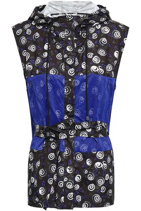 FIORUCCI Printed mesh-paneled shell gilet