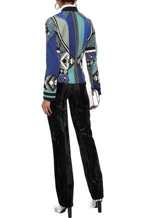 ETRO Printed wool-blend jacket