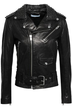 IRO Studded leather biker jacket