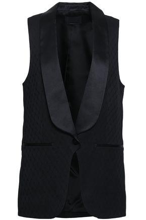 ALEXANDER WANG Satin-trimmed wool-jacquard vest
