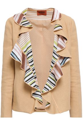 MISSONI Ruffled stretch-knit jacket
