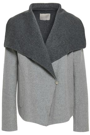SOIA & KYO Brushed wool-blend felt coat
