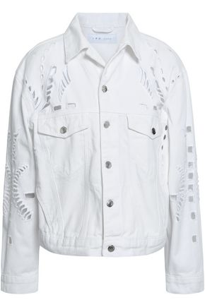 IRO Dinard broderie anglaise denim jacket