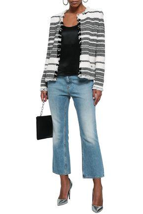 IRO Frayed cotton-blend tweed jacket