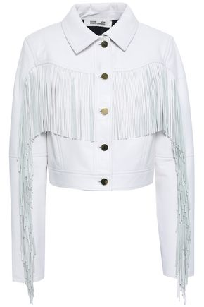 DIANE VON FURSTENBERG Fringed leather jacket