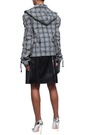 MAISON MARGIELA Checked shell hooded jacket