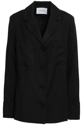 FRAME Oversized woven blazer