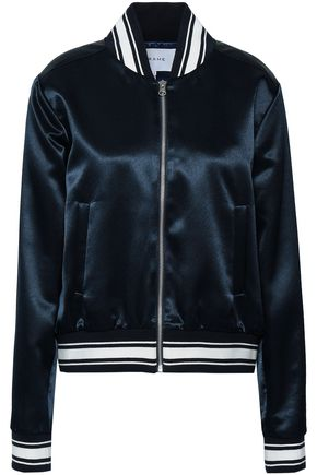 FRAME Flocked satin bomber jacket