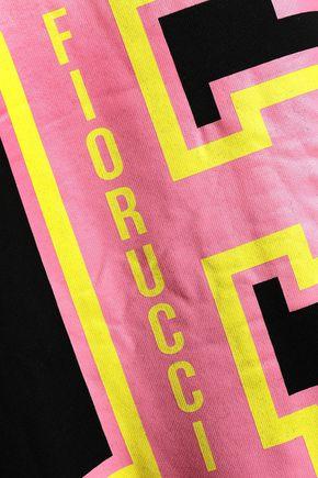 FIORUCCI Oversized printed cotton-fleece jacket