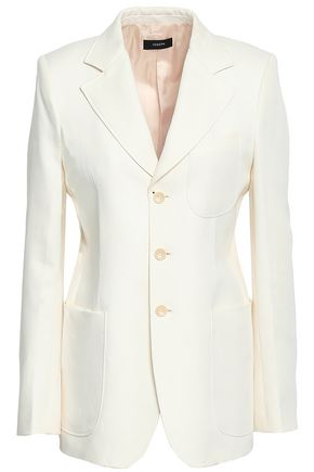 JOSEPH Genova cotton and ramie-blend blazer