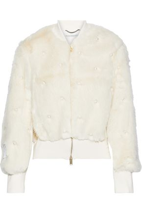 STELLA McCARTNEY Kiernand embellished faux fur bomber jacket