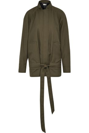 BY MALENE BIRGER Vinue tie-front twill jacket