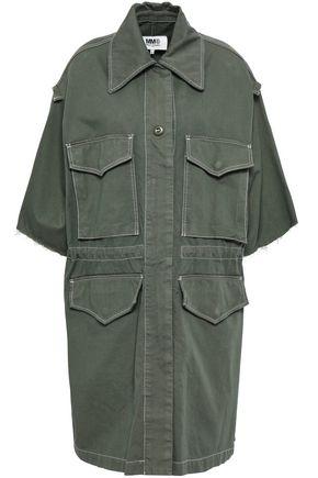 MM6 MAISON MARGIELA Frayed cotton-blend canvas jacket