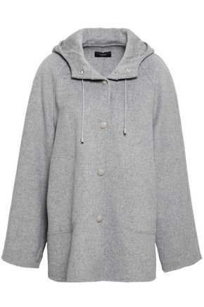 JOSEPH Mélange wool and cashmere-blend hooded coat