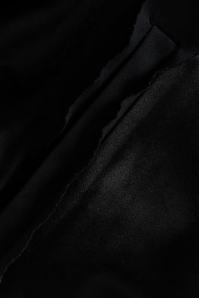 MAISON MARGIELA Leather-paneled satin hooded bomber jacket
