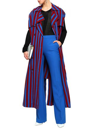 MAISON MARGIELA Belted striped twill trench coat