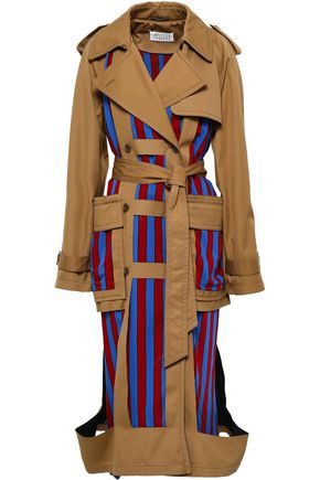 MAISON MARGIELA Cutout paneled twill trench coat