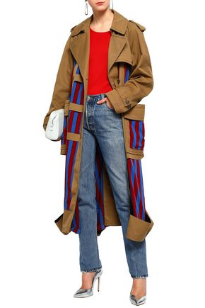MAISON MARGIELA Cutout paneled twill trench coat