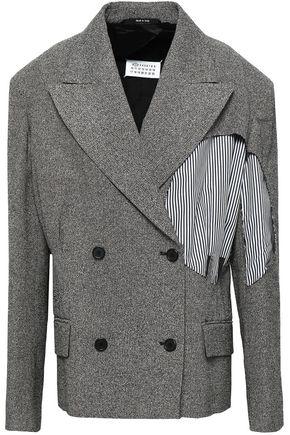 MAISON MARGIELA Poplin-paneled cotton-blend tweed blazer