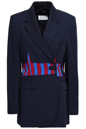 MAISON MARGIELA Double-breasted striped cotton-blend blazer