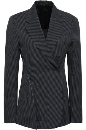 MAISON MARGIELA Double-breasted pinstriped cotton-blend blazer