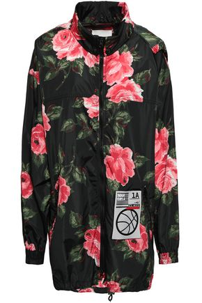 MAISON MARGIELA Appliquéd floral-print shell hooded jacket