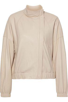 VINCE. Leather bomber jacket