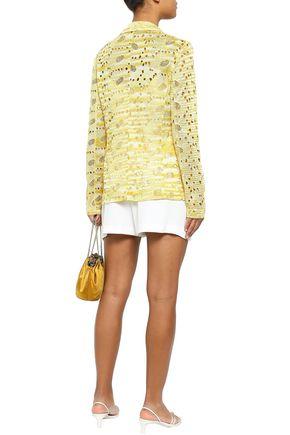 MISSONI Broderie anglaise crochet-knit blazer