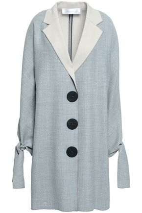 VICTORIA, VICTORIA BECKHAM Button-detailed mélange woven coat