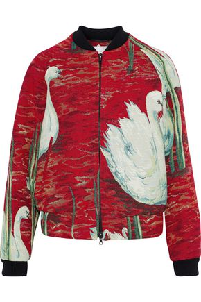 VICTORIA, VICTORIA BECKHAM Brocade bomber jacket