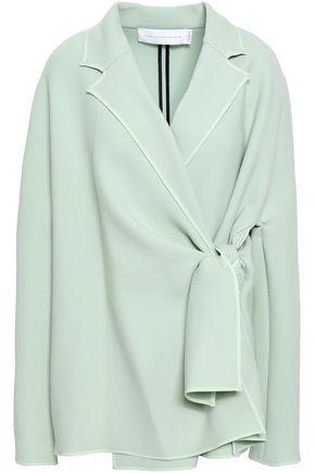 VICTORIA, VICTORIA BECKHAM Wrap-effect twill jacket