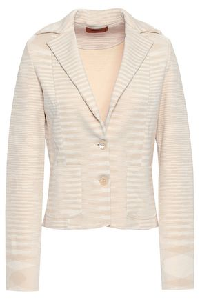 MISSONI Crochet-knit blazer