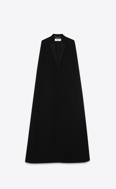 Tuxedo cape in saint laurent grain de poudre