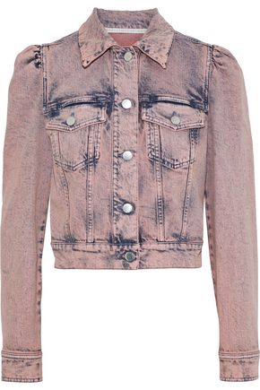 STELLA McCARTNEY Cropped bleached denim jacket