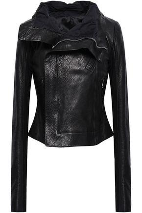 RICK OWENS Pebbled-leather biker jacket