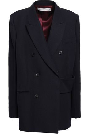 VICTORIA BECKHAM Double-breasted wool-canvas blazer