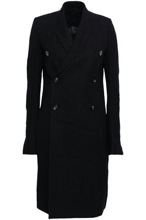 RICK OWENS Double-breasted mohair-blend coat